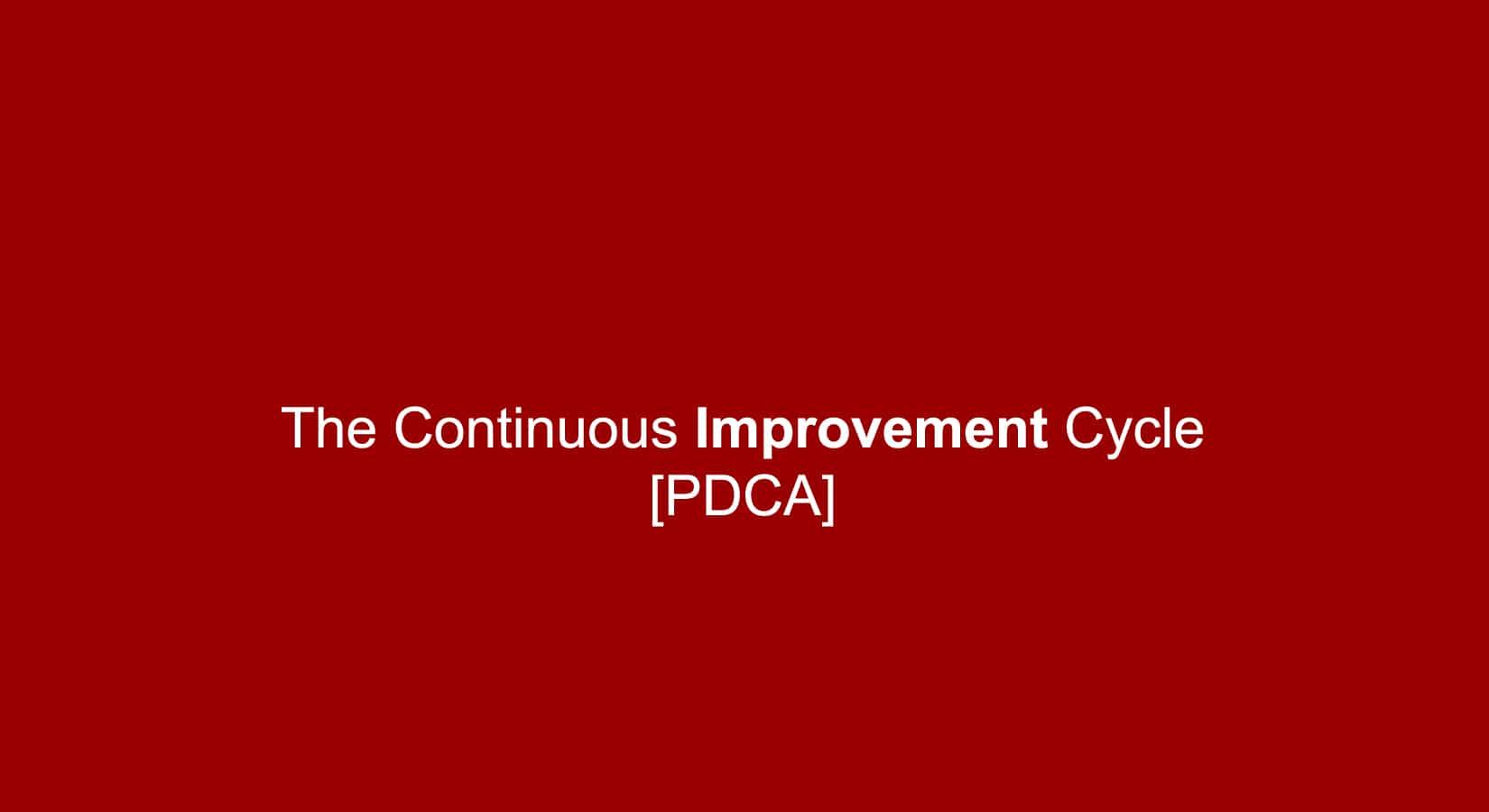 Impruver PDCA